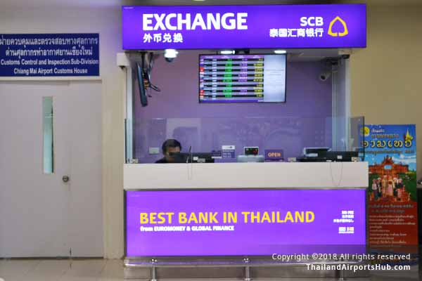 siam commercial exchange in chiangmai airport